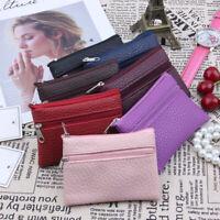 Leather Coin Purse Women Small Wallet Change Purses Zipper Money Bag Key Holder‥