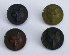 Large Fox head buttons