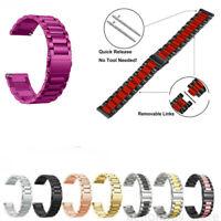 US Stainless Steel Watch Strap For Fitbit Versa / Lite 2 Band Screwless Bracelet