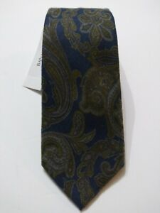 """BANANA REPUBLIC MENS NEW BLUE/OLIVE 100%POLYESTER CLASSIC NECK TIE WIDTH: 3"""""""