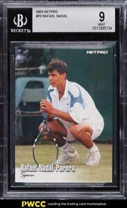 2003 Netpro Tennis Rafael Nadal ROOKIE RC #70 BGS 9 MINT