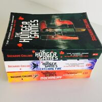 The Hunger Games Trilogy 3 Book Set by Suzanne Collins Catching Fire Mockingjay