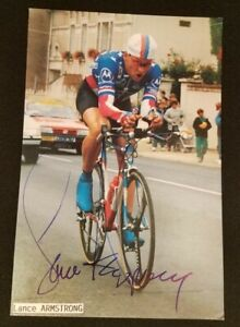 1993 Lance Armstrong Motorola Cycling Team Card - Signed