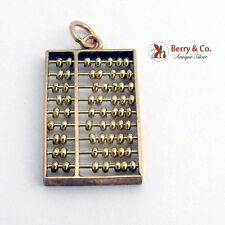RECENTLY DISCOUNTED Abacus Figural Charm Pendant 14K Gold