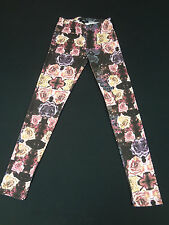 FOREVER 21 - GALAXY COSMIC ROSE FLOWER - MEDIUM LEGGINGS - E2555
