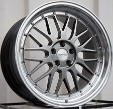 Varrstoen Es1 18X9.5 5X100 Et35 Hyper Black W/ Machined Lip (1 Wheel Only)