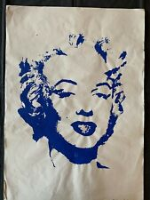 Original vintage rare silk-screen on paper!hand signed Andy Warhol: MARILYN! #1