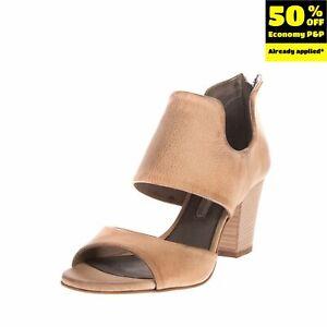 RRP€135 MANUFACTURE D'ESSAI Leather Bootie Sandals EU36 UK3 US6 Burnished Effect