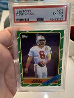 1986 Topps Steve Young Rookie RC #374 PSA 6 NM HOF San Francisco 49ers