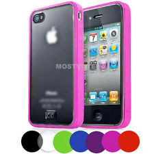 Hard & Soft Hybrid Bumper Case Cover for Apple iPhone 4S 4