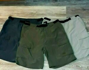 """The North Face Cargo Shorts 3 pair Outdoor Lot Mens Large 9.5 10"""" inseams"""