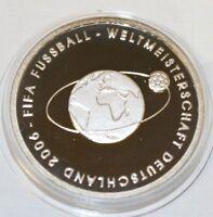 10 EURO Bundesrepublik Deutschland FIFA Fußball WM 2004 Polierte Platte