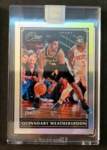 Quinndary Weatherspoon 2019-20 Panini One And One RC #150 Spurs #86/99