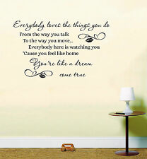 Adele When We Were Young Song Music Lyrics Quote Wall Art Sticker