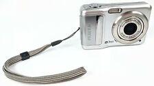 FujiFilm A850 8.1MP 3x Zoom AA Battery Digital Camera Silver Tested Working