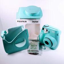 FUJIFILM INSTAX MINI 7S INSTANT BUNDLE CAMERA 600020261 BLUE/GREEN With Case NEW