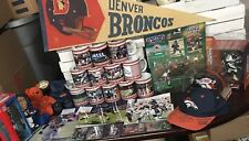 Danbury Mint Denver Broncos Complete Mug Set & Signed Memorabilia LOT Bobbles