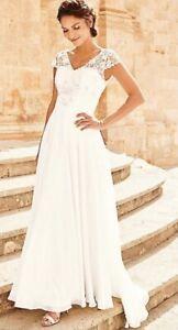 Kaleidoscope Wedding Dress New Size 14 Was £329