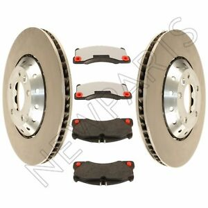 For Porsche Cayenne Turbo S Set of 2 Front Vented Steel Brake Rotors & Pads OEM