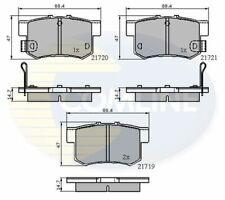 Rear Brake Pads FOR HONDA SHUTTLE 2.2 2.3 3.0 94->04 CHOICE2/2 Petrol Comline