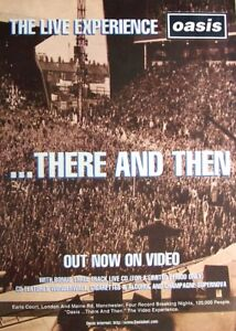 OASIS 1996 original POSTER ADVERT THERE AND THEN