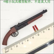 4856acd167b 1 6 Scale Weapon Model Black Female Cowboy Double Tube Shot Gun For 12