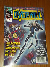 OVERKILL #9 MARVEL BRITISH MAGAZINE 14 AUGUST 1992 KILLPOWER MOTORMOUTH^