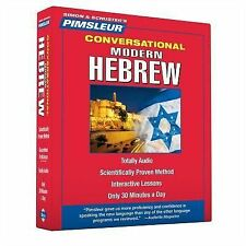 PIMSLEUR Learn to Speak HEBREW Language 8 CDs NEW!!