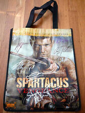 SPARTACUS VENGEANCE sdcc 2012 Limited Cast Signed Bag LIAM MCINTYRE DUSTIN CLARE