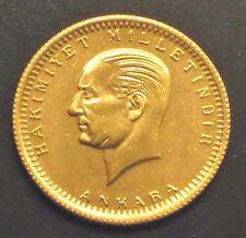 "1923/82-TURKEY 100 Kurush Gold COIN . ""BU""+LUSTER    KM#:855"