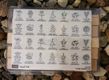Stampin Up Stamp Small Talk Set Sun Star Christmas Tree Heart Wedding Bell NEW