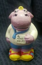 Rare Sweet Pickles Healthy Hippo Piggy Bank 1981 Vintage Rx Money