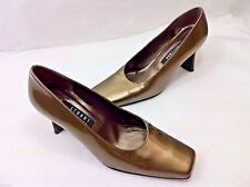 Stuart Weitzman Pumps Shoes Gold Patent Leather Womens Size 8 B