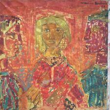 Maurice BOULNOIS 1913-2011.La jeune fille et ses deux galants.HST.1959.50x50.SHD