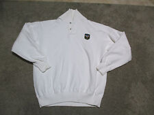 VINTAGE Ralph Lauren Polo Sweater Adult Medium Uni Crest P Wing Jacket White 80s