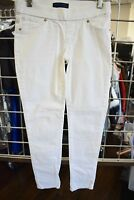 LEVI'S JEAN WHITE COTTON GIRLS LONG SKINNY JEGGINS PANTS SIZE 12 ON SALE