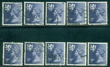 Great Britain Scotland Sg-S28, Scott # Smh-12, Used, 10 Stamps, Great Price!