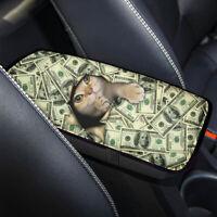 Funny Money Cat Design Car Armrest Cover Cushion Pad Center Console Mat Interior