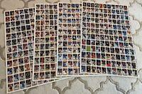 1989-90 OPC O-PEE CHEE HOCKEY UNCUT SHEET. Set of 4, 528 total cards