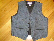 Oleg Cassini S. Holmes steampunk suit vest blue black lt blue print  51 C  XL