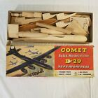 Comet Solid Model of the B-29 Superfortress 1940s Balsa Airplane 1/64 Boeing