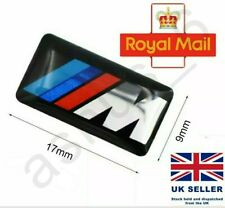 4x M Sport Performance Alloy Wheel Badge Sticker Emblem Decal For BMW UK 17x9mm
