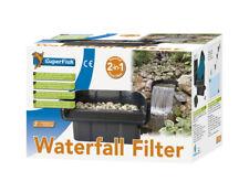 SuperFish Wasserfall Filter 2 in 1 Wasserfall und Teichfilter inkl. Filtermedien