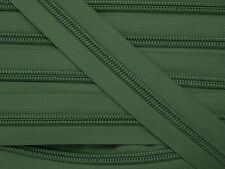 ZN05A-P9 20yards #5 ARMY GREEN (879) Nylon coil continuous zipper zip chain tape