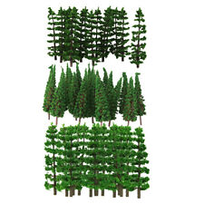 90Pcs 9cm Green Fir Models Trees Layout 1/100 HO Scale for Diorama Building