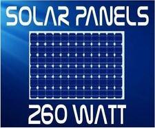 BRAND NEW! 520W 2 X 260W 24V SOLAR PANELS MONOCHRYSTALLINE SUNTECH FROM SYDNEY