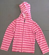 Mini Boden Pink Striped Terry Hoodie 7 8 EUC