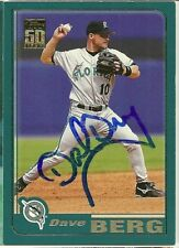 2000 Topps DAVE BERG Signed Card autograph MARLINS PEMBROKE PINES, FL