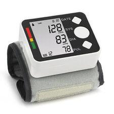 Digital Automatic LCD Wrist Blood Pressure Monitor Heart Rate Beat Pulse Meter