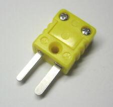 Miniature Mini K-Type Connector Plug Male for thermocouple wire sensor probe